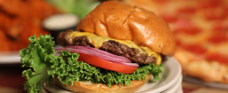 Bellas Restaurant Lunch Special Fresh Hamburger and Fries